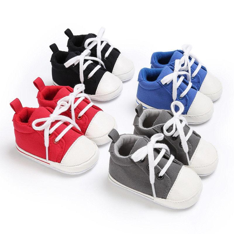 4c8bfc2f6faf7 2019 3 18M Canvas Classic Sports Sneakers Newborn Baby Boys Girls First  Walkers Shoes Infant Toddler Soft Sole Anti Slip Baby Shoes From  Breadfruiter, ...
