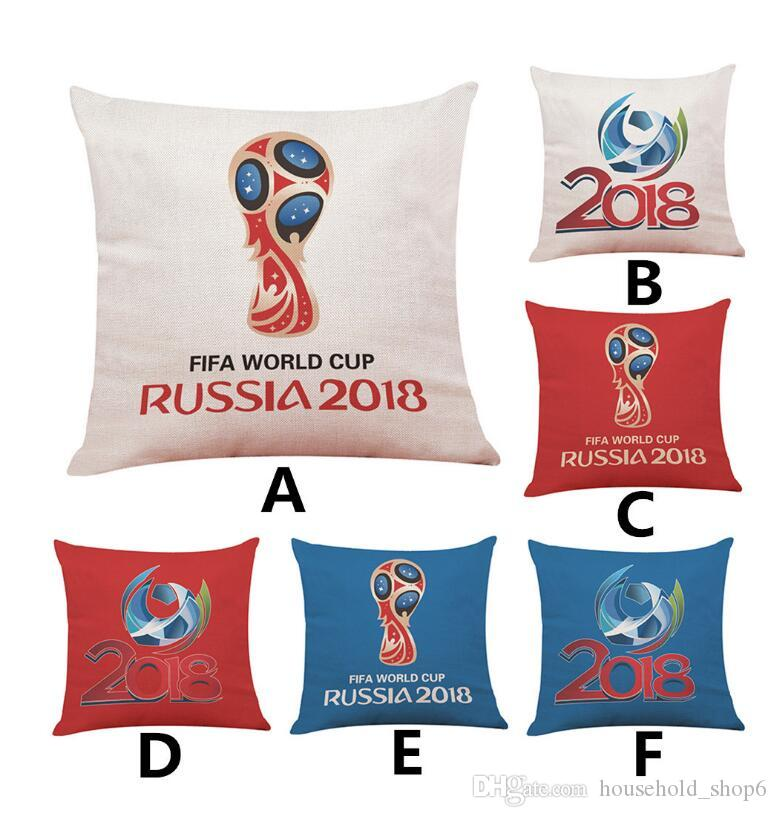2018 Pillow Case 45*45CM Russia World Cup Home Decor Cushion Cover Soccer linen Pillow Covers Free Drop Shipping DHL