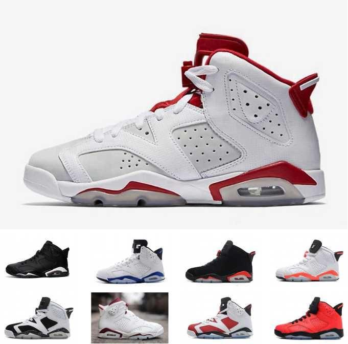 new style 65aa8 625d5 Großhandel Nike Air Jordan 6 Retro Jordans Retros Großhandel Basketball  Schuhe Discount Laufschuhe Günstige Sport Sneaker Radfahren Fußball Schuhe  Frauen ...