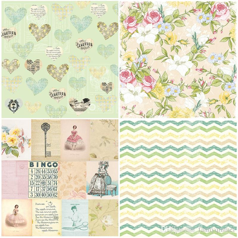 "DIY Album Photo Scrapbooking set Decorative Papers Pretty Lady Craft paper 6""inch X 6"" inch Single Side Printed"
