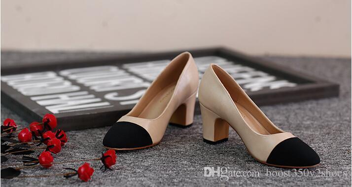Designer Femmes Chaussures D'été Chaussures 65mm Talons Hauts Slingback Beige Gris Noir Deux tons En Cuir Femmes Dames De Luxe Sandales Taille 34-41 Boîte