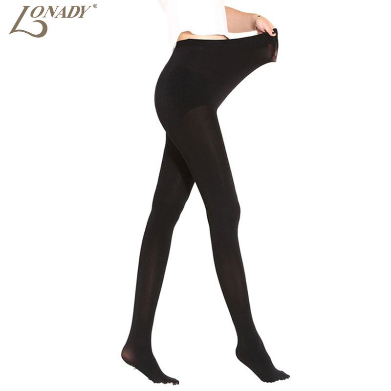 6d228bdbaef 100D Autumn Winter New Women s Black Glossy Pantyhose Step Foot Tights  Maternity Sexy Warm Medias Women s Stockings