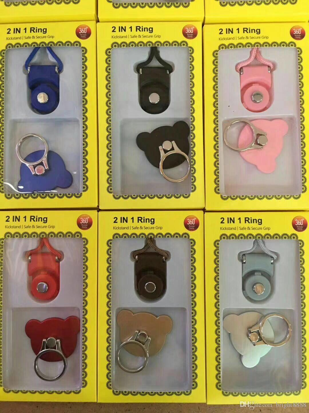 Ring buckle multifunction lanyard combo ring buckle lanyard with bracket Can rotate the buckle long lanyard strap