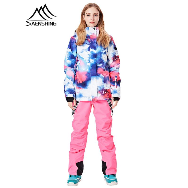 a5ff0d29a1 SAENSHING 2018 Winter Ski Jacket Women Snowboard Warm Waterproof ...