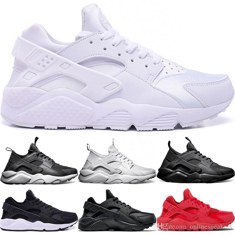 a02299d7542b 2019 Huarache Ultra Running Shoes 4.0 1.0 Men Women Triple White Core Black  Red Cheap Huaraches Mens Athletic Sports Sneakers Wholesale Online From ...