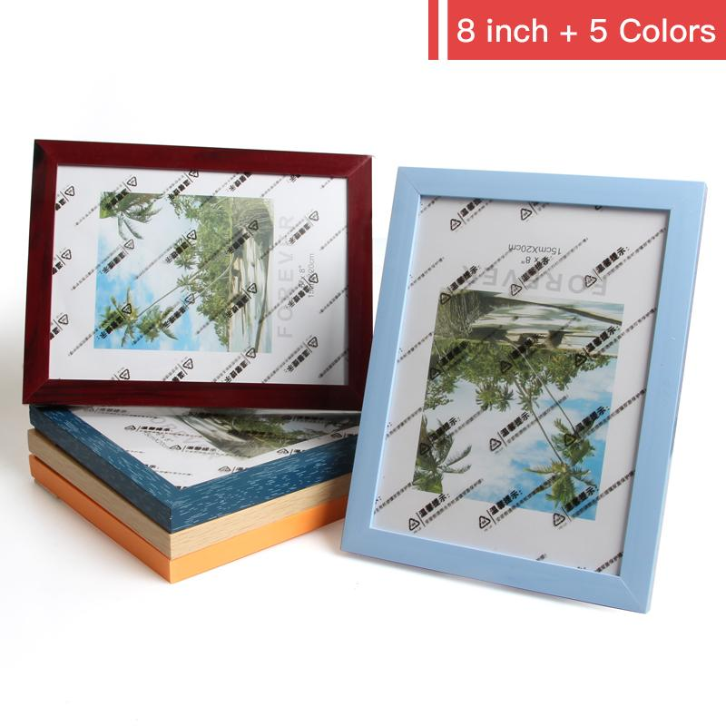 Compre 5 Piezas / Lote Titular De Foto De Plástico Multicolor Cuadro ...