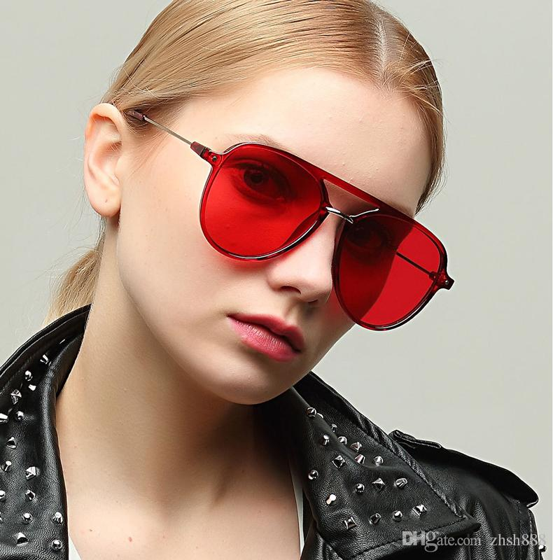 e32b266550 Sunglasses Men Brand Designer Red 2018 Women Retro Glasses Men Luxury Brand  Design Mirror Shades Metal Frame Driving Glasses Black Lens Sunglasses  Online ...