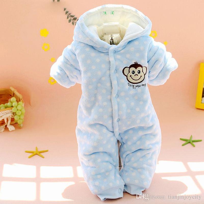 ec5436d86 New Autumn Winter Coat Jumpsuit Baby Newborn Snowsuit Fotografia Boy ...