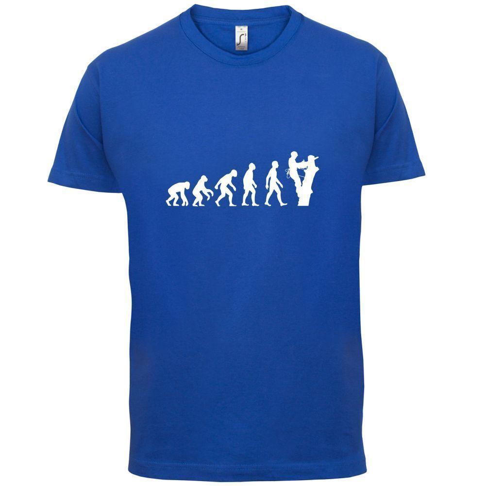 0ac7aea09769 Evolution Of Man Tree Surgeon Mens T Shirt Lumberjack   Tree Doctor Mans  Unique Cotton Short Sleeves O Neck T Shirt Humorous T Shirt Cool And Funny  T Shirts ...