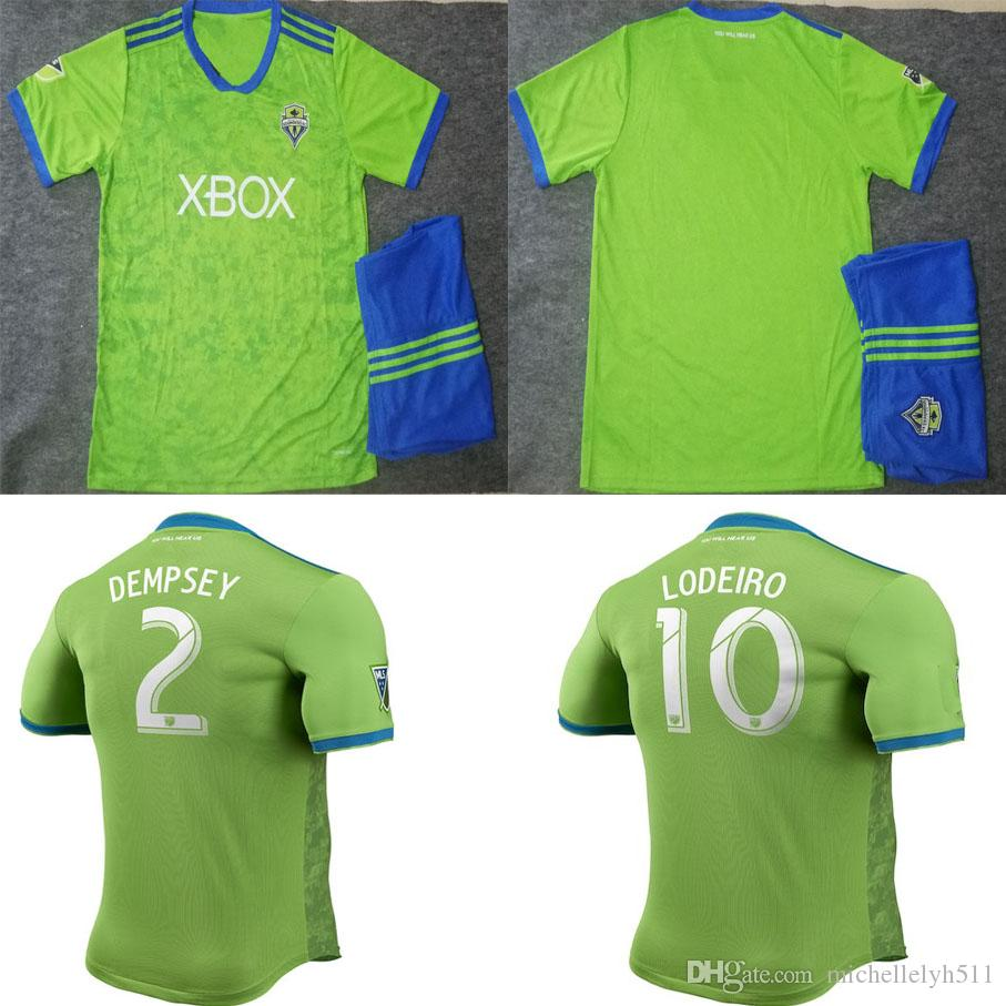new product b9ae3 4819f 18 19 Seattle Sounders Soccer Jersey Shorts DEMPSEY LODEIRO TORRES ROLDAN  Football Kits Men s Athletic Thai Quality Outdoor Sports Uniforms