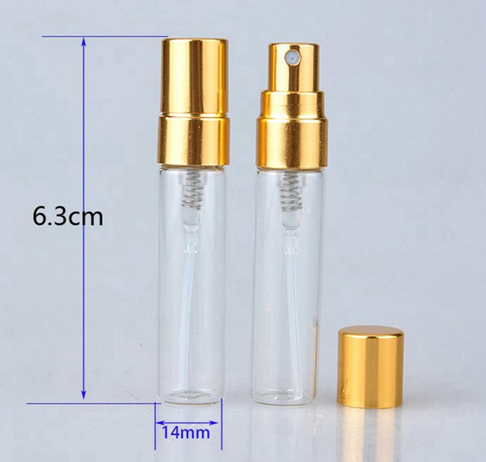 Mini frascos botellas de perfume 5 ml de viaje recargable portátil atomizador vacío claro perfume botella aerosol Ourdoor DDA198