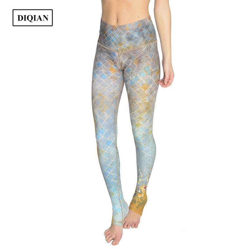 3b630877da6af DIQIAN New Style Digital Printing Yoga Pants Women Fitness Elastic ...