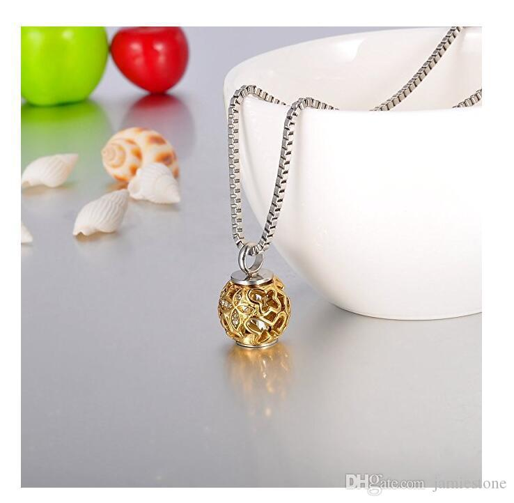 2018 Fashion Jewelry Diffuser Necklace 24K Gold Tone Hallow Butterfly Pendant Locket Jewelry