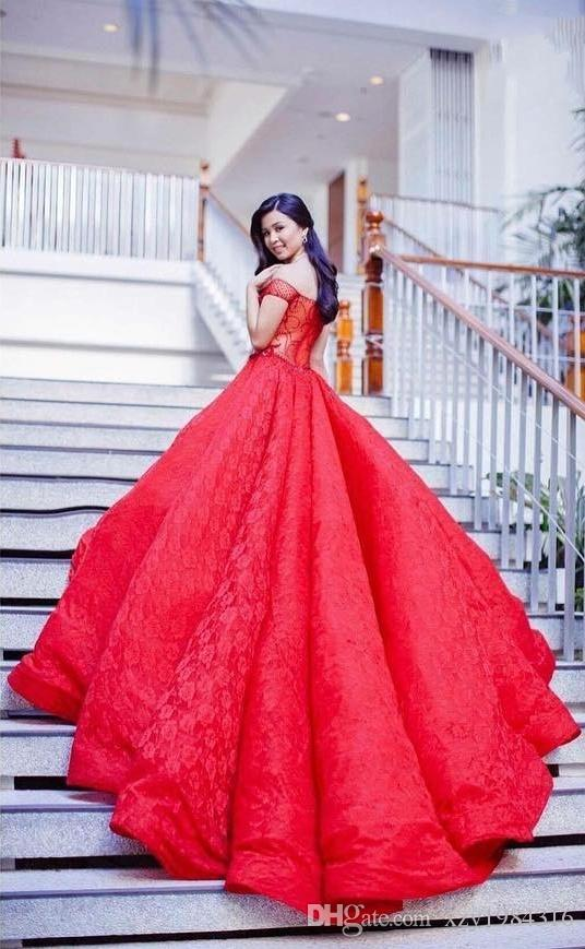 Saudi Plus Size Prom Dresses Sexy Off Shoulder Lace Ball Gown Princess Party Dress 2018 Glamorous Pageant Dress Cheap Vestidos De Fiesta
