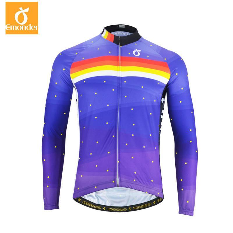 EMONDER Men Women Long Sleeve Cycling Jerseys Pro Fit Road Bike MTB Top Jersey  Custom Spring Autumn Cycling Clothings Wholesale Cycling Shirts From ... 9b0f6b6ec