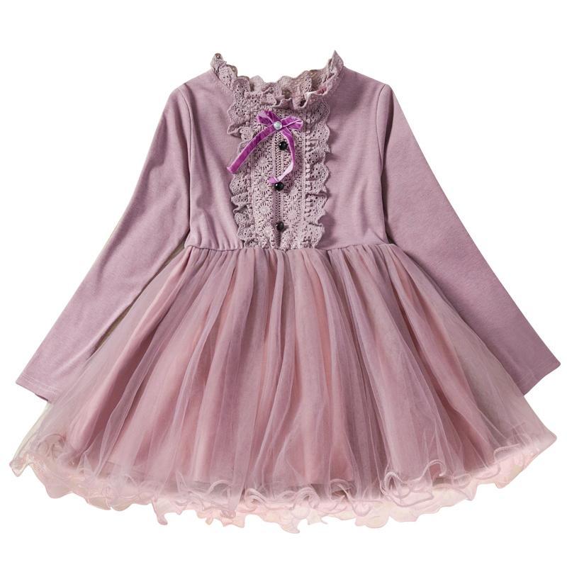 Automne Enfants Bébé Fille Volants Manches Longues Princesse Casual Parti Robes