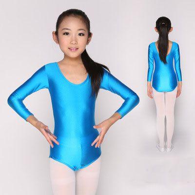 32f6bddb8 2019 Cotton Short Sleeve Basic Ballet Leotard For Girls Children ...