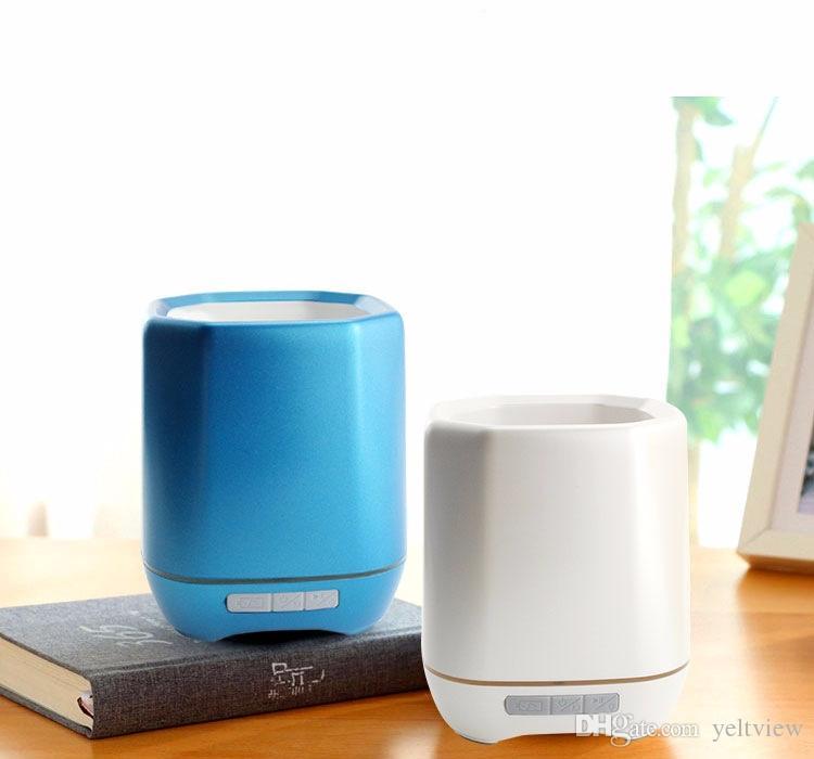 nueva llegada Inteligente Música Inalámbrica Flower Pot Bluetooth Speaker Florero Piso inteligente Plant Piano Music speaker con Colorido LED Night Light