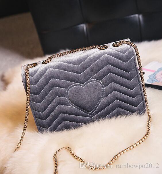 0846b1add611 Factory Outlet Brand Women Bags Winter New Fashion Velvet Bag Classic  Lingge Women Chain Bag Flip Velvet Messenger Bag Personality Handbag Luxury  Handbags ...