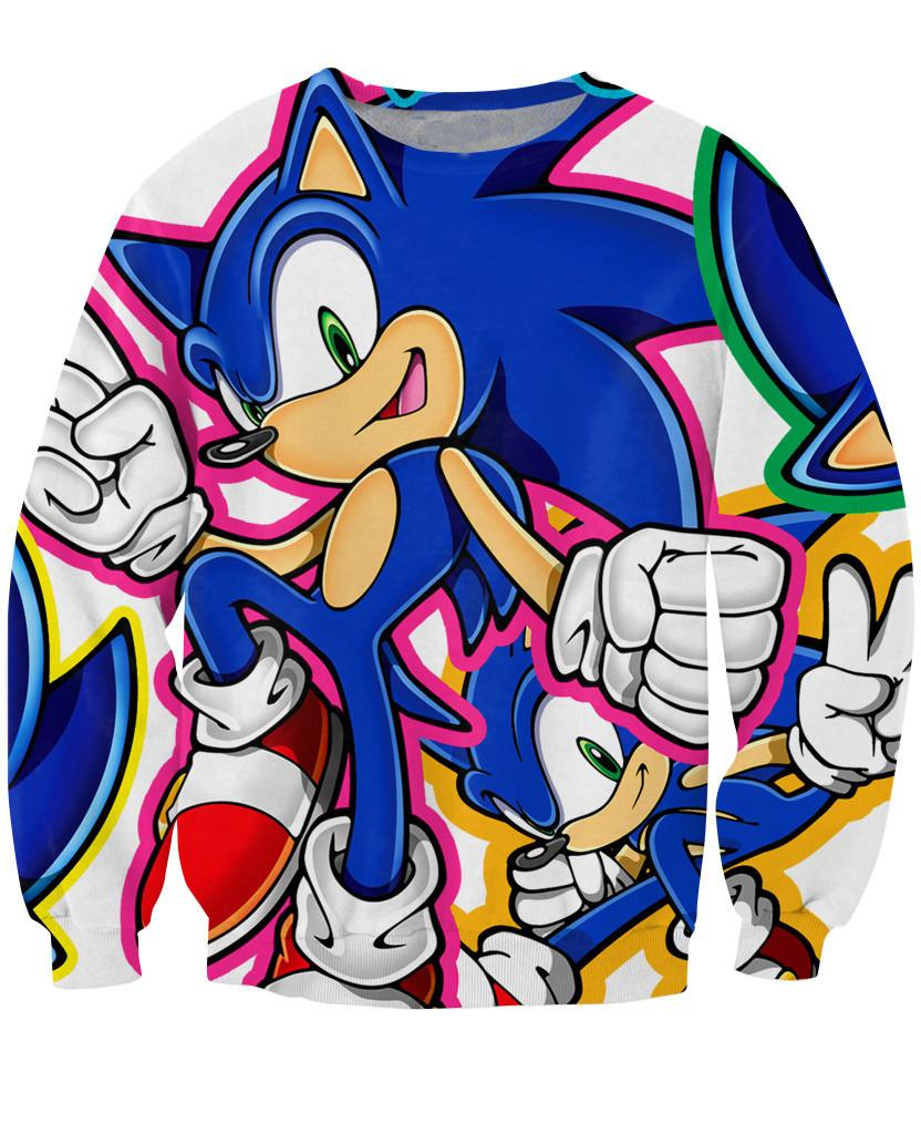 fe1456f2d Compre Mulheres Sonic The Blue Ouriço Moletons Crewneck Camisola Homens  Moda Casual Roupas Primavera Jumper Tamanho S 5XL De Yuanchun, $27.07 |  Pt.Dhgate.