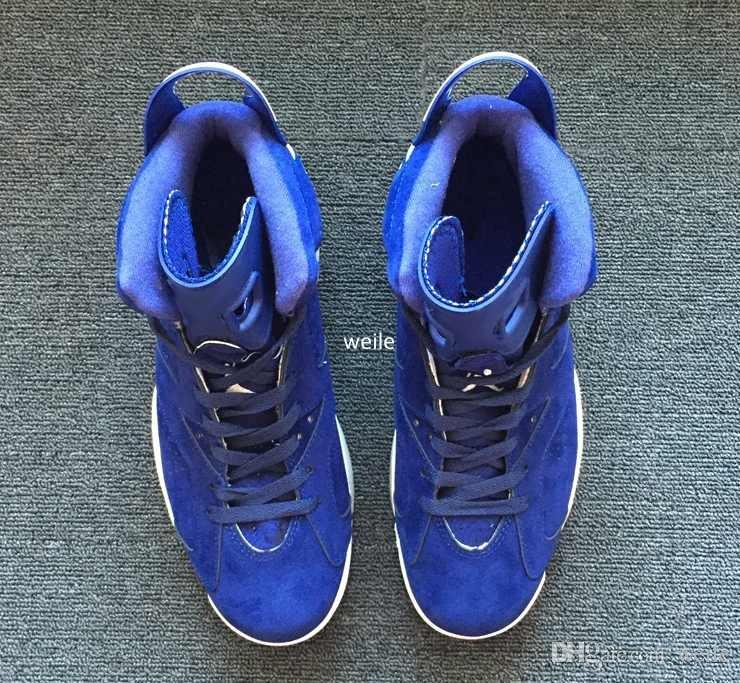 2018 New 6 VI Red Blue Suede Basketball Shoes For Men,High Quality 6s Sports Mens Basket Ball Sneakers Trainers Size 7-13