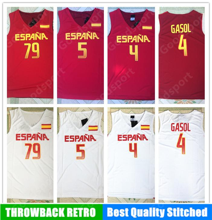 8c281a3c045 ... new zealand 2019 2016 team spain 5 fernandez 4 pau gasol 79 ricky rubio  jersey mens