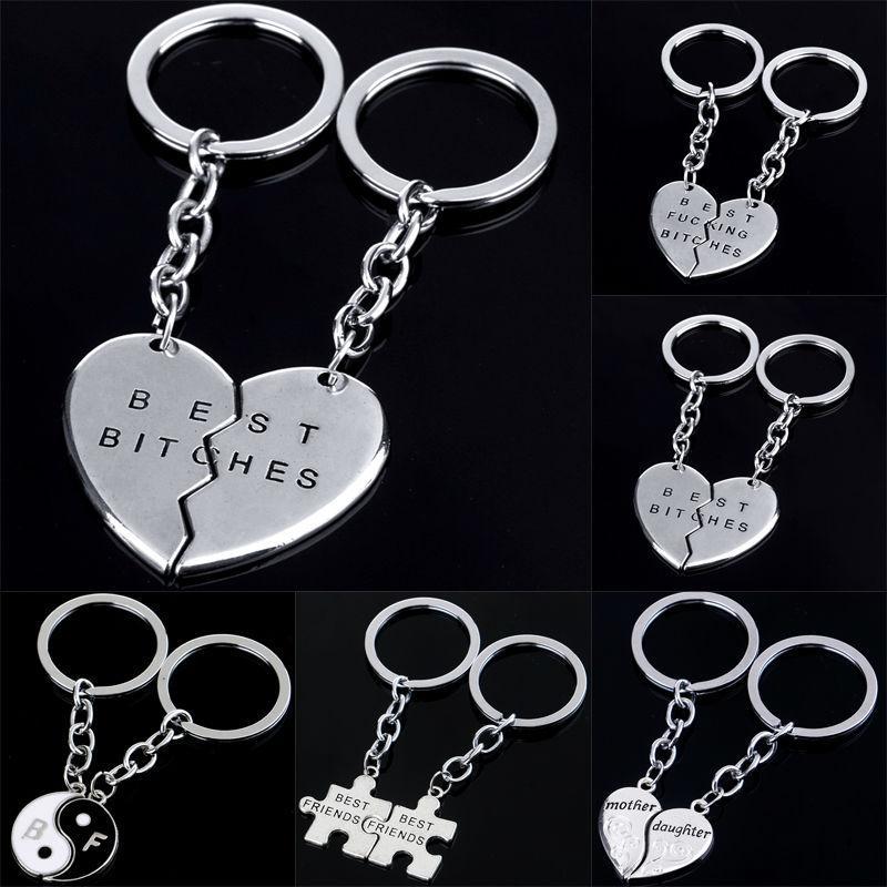 Broken Heart Best Friend Keyring Yin Yang Love Charm Keychain Key Chain  Jewelry Women Men Jewelry Friendship Leather Key Holder Tritium Keychain  From ... 0c2d19fc16c7