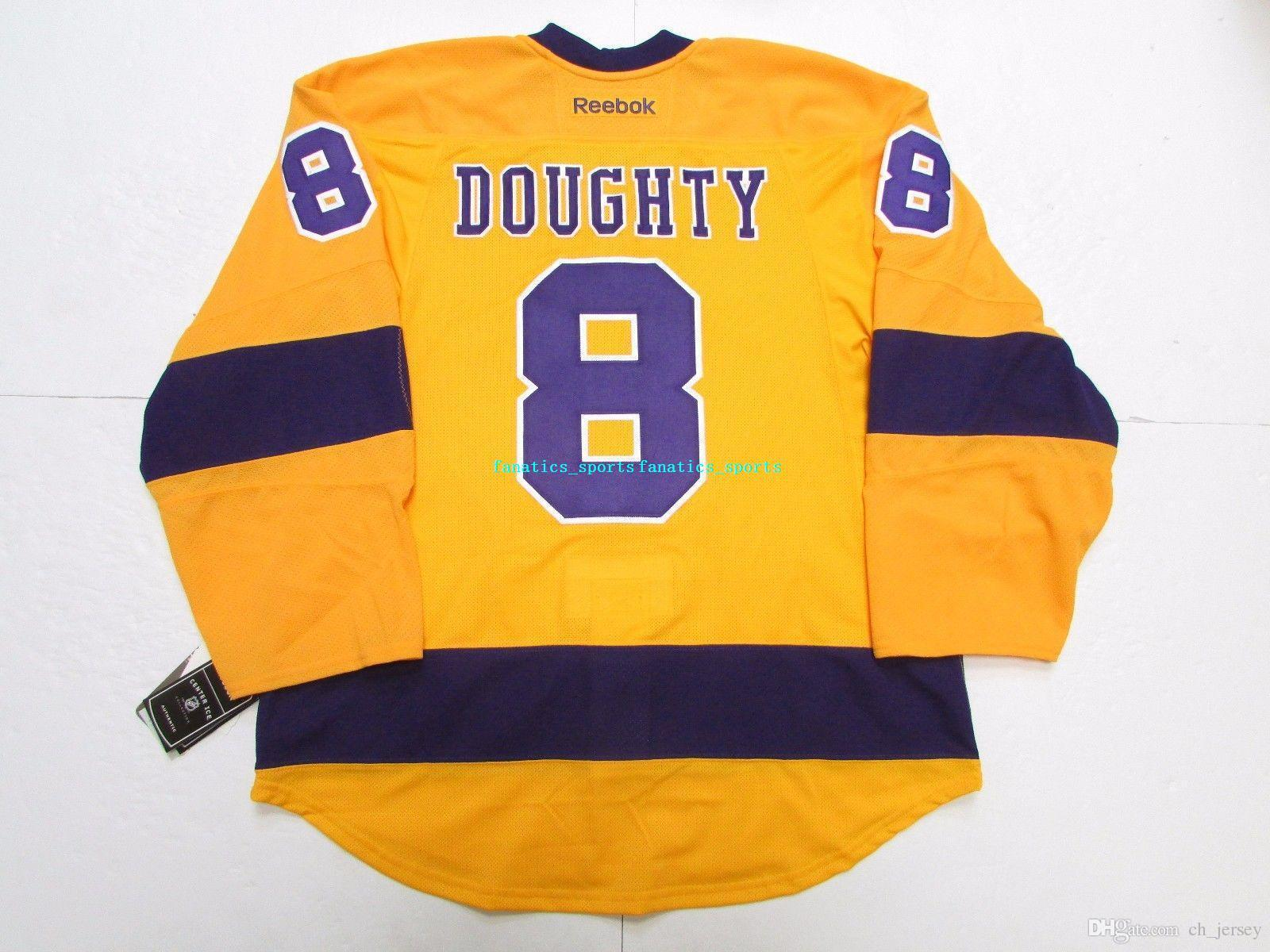 af3e16680 ... best price 2018 drew doughty los angeles kings gold 50th anniversary  jersey stitch mens hockey jersey