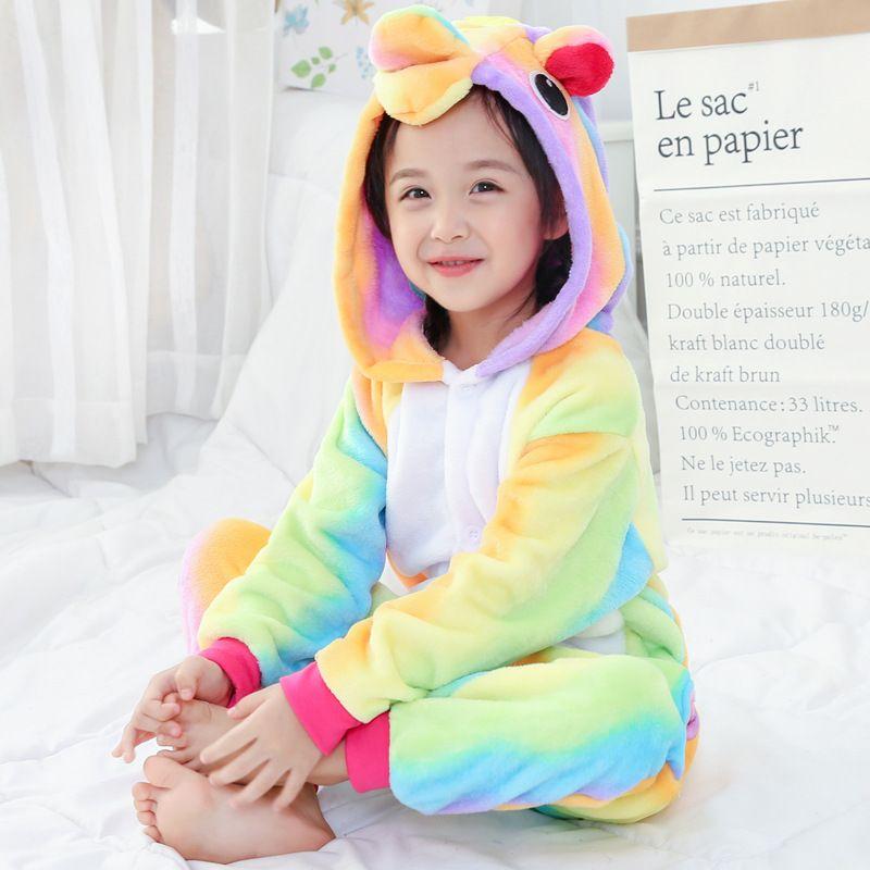 f1e9bd3b3f Horse Unicorn Rainbow Color Pajamas Children Unisex Pijamas Boy Girl Kid  Cartoon Animal Pegasus Pyjama Onesie Sleepwear Hoodie Pajamas For Little  Girls ...