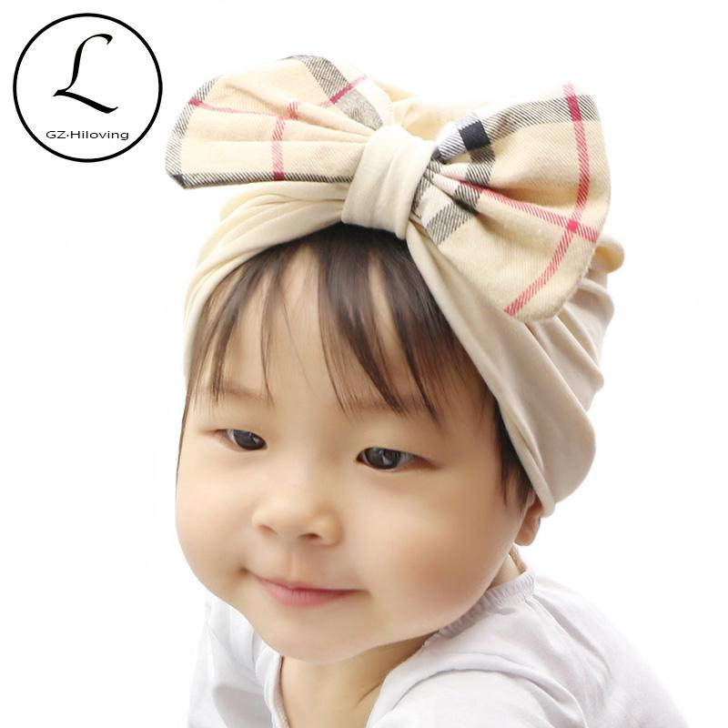 2018 GZHilovingL Newborn Girls Boys Cotton Soft Hair Turban Bow Hats Beanie  Lovely Spring 2018 Baby Kids Child Hat Bonnet Accessories Hair Accessories  For ... e0fd97a25943