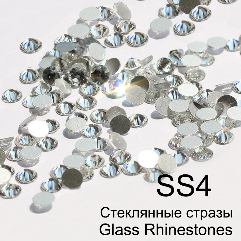 35d48bea42 SS4 Crystal Non Hotfix 3D Nail Art Glass Rhinestones With Round Flatback  For Nail Art Dancing Dress And Phone Case /Pack Nail Designs Rhinestone  Decoration ...