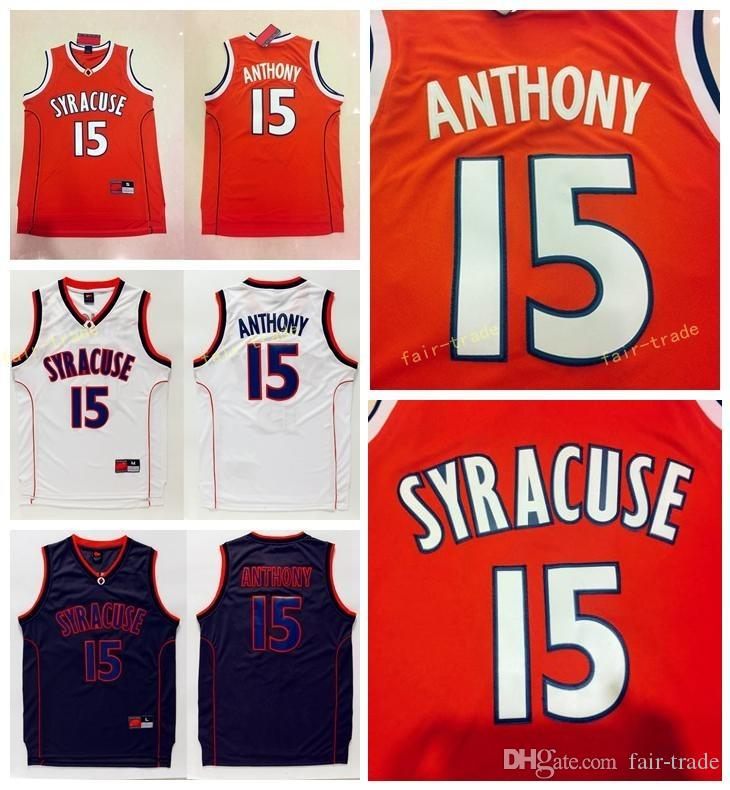 226bc5b47aa 2019 Top Quality Syracuse College NCAA #15 Carmelo Anthony Jersey Orange  Black White Mens Carmelo Anthony College Basketball Jerseys Stitched From  Fair ...