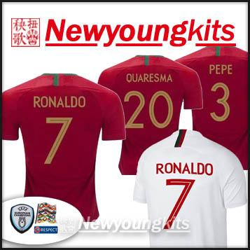 separation shoes 65fea 1ec69 2018 19 Uefa Nations League RONALDO Jersey 18 19 Football uniforms MOUTINHO  QUARESMA PEPE shirt