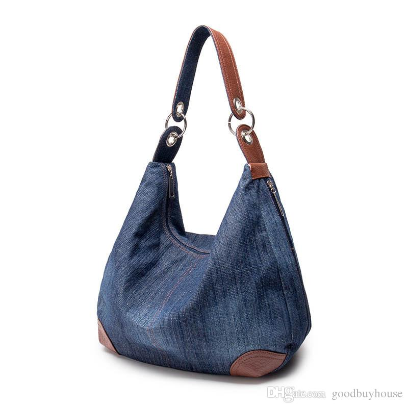 2018 Large Luxury Handbags Women Bag Designer Ladies Hand Bags Big Purses  Jean Tote Denim Shoulder Crossbody Women Messenger Bag Cheap Handbags Cheap  Purses ... d63cb6b09235
