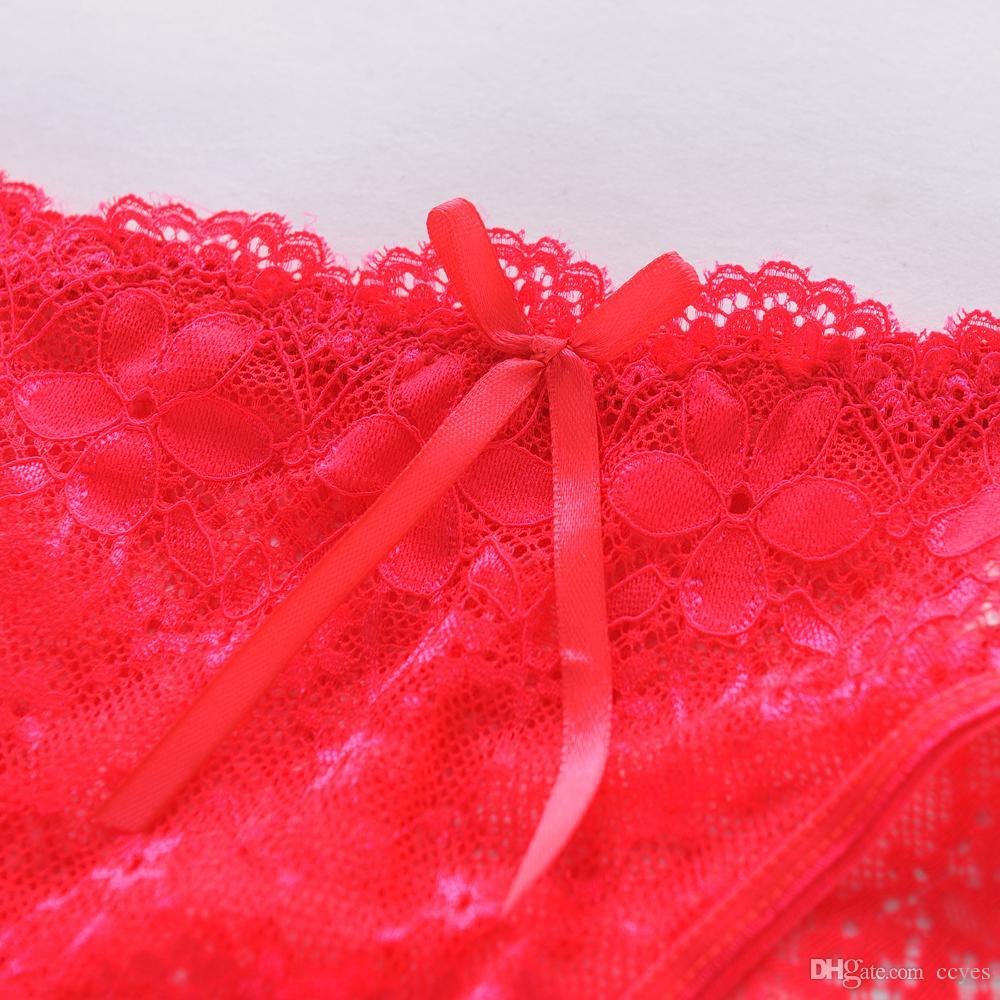 Venta al por mayor de encaje de la ropa interior de las mujeres resbalón bragas sexy sin costura calzoncillos femeninos de encaje Bragas arco Intimates hot girls bragas 1520
