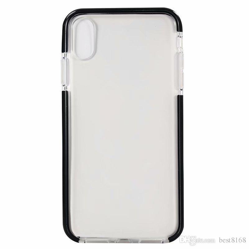07e0d5f9009 Carcasas Moviles Funda TPU Suave Para Iphone XR Para Iphone XS MAX X 10 8 7 6  6S Transparente Gel Híbrida Moda Doble Color Funda Bicolor Para Celular En  ...