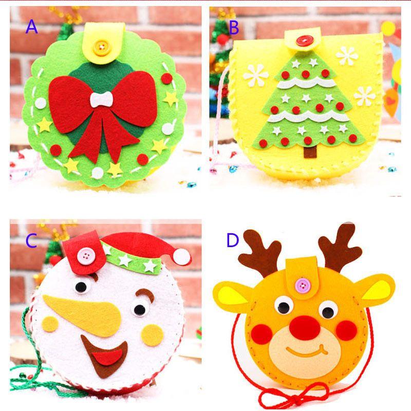 Kindergarten Weihnachten.Weihnachten Kinder Tasche Kindergarten Handgemachte Diy Material Tasche Geschenk Handhabung Geschenk Halter Apple Taschen Dekoration B001