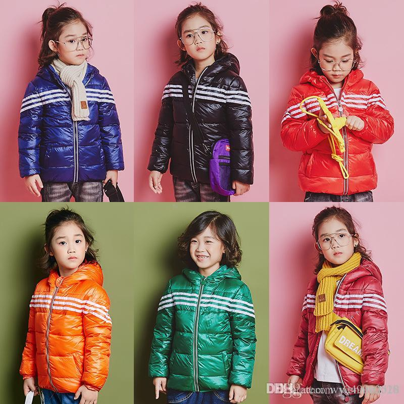 95c7c3dfaff3 Winter New Boys Striped Coat Girl Down Jacket Baby Thin Clothing And ...