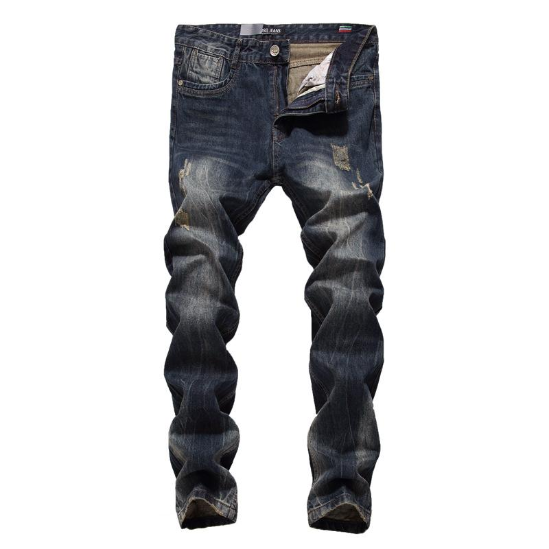 9fedfeac08cd Hot Sale Fashion Men Jeans Brand Straight Fit Ripped JeansDesigner ...