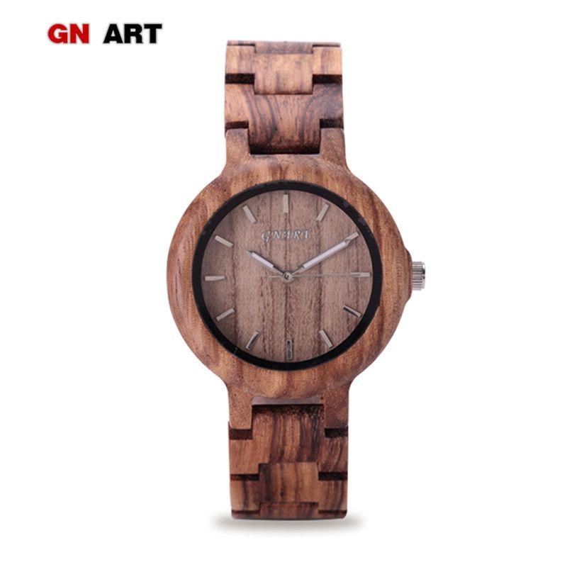 376c1d2097e3 Compre 099 Relojes De Madera Para Mujer Relojes De Madera Para La Marca Reloj  De Cuarzo Art Creative Bracelet Womens A  35.98 Del Juaner