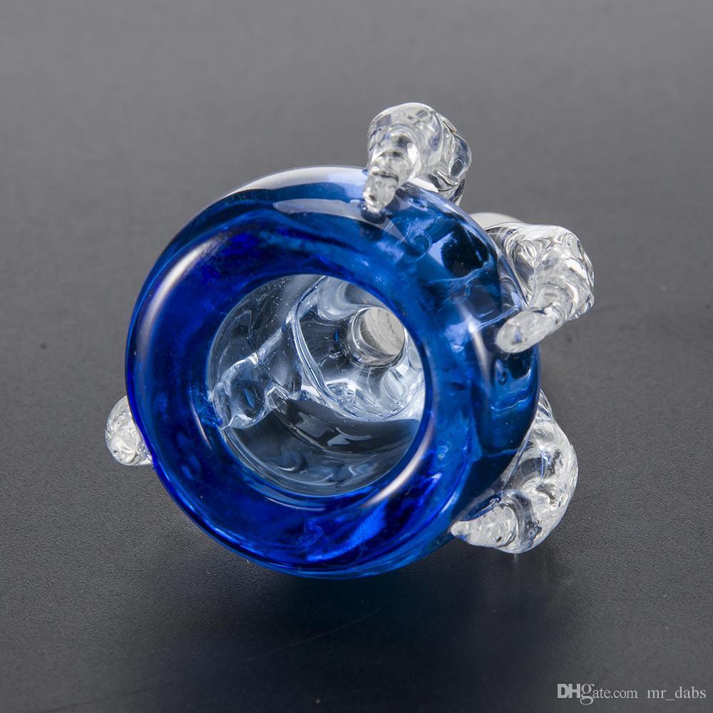 Großhandel Dragon Claw Glass Bowl Glas Herb Halter mit 14mm 19mm männliche Verbindung für Glas Bongs Wasserpfeifen bei mr_dabs