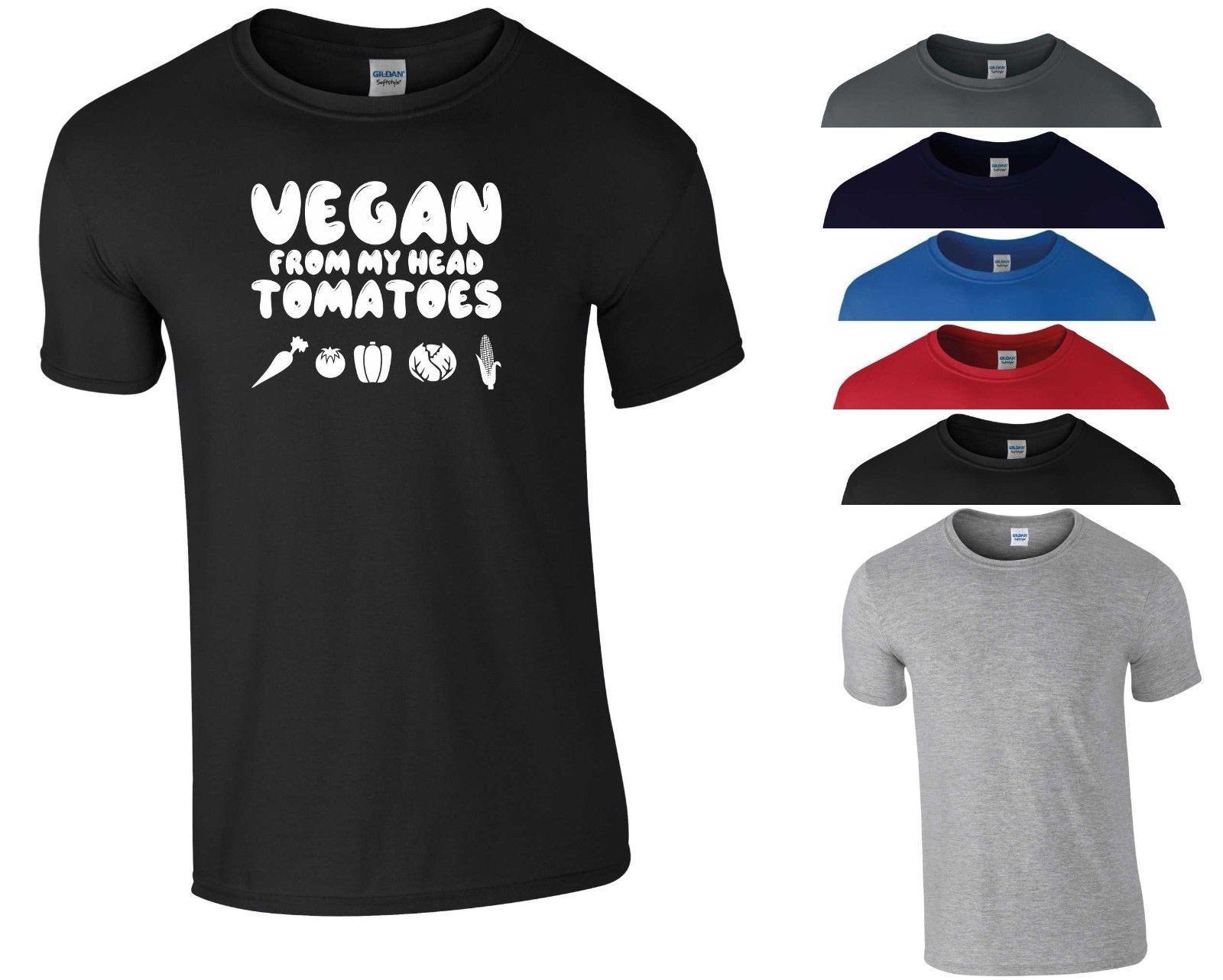 71a4282714 Compre Camiseta Vegetariana Vegano De Mi Cabeza Tomates Food Fashion Funny  Gift Men Top A  11.01 Del Fmshirt