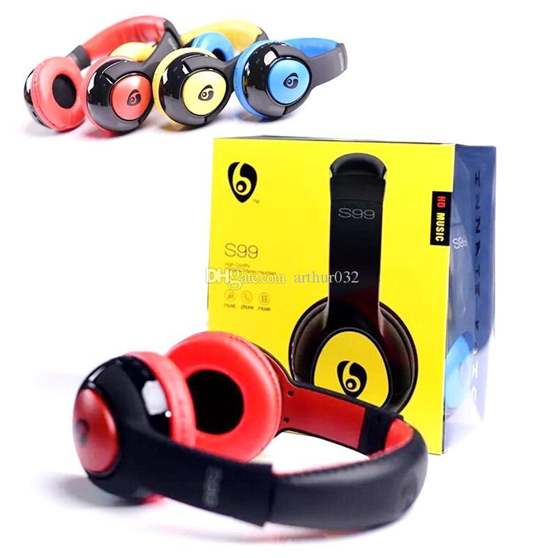 S99 Bluetooth Headphones Stereo HIFI Wireless Earphone Gaming Computer  Headset Music With Mic Handsfree TF Card for Samsung Bluedio Marshall