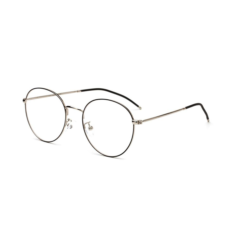 Compre Preto Retro Óculos De Armação De Óculos De Leitura Armações De Óculos  Transparentes Das Mulheres Dos Homens De Metal Redondo Transparente Óculos  ... 1875e4e478