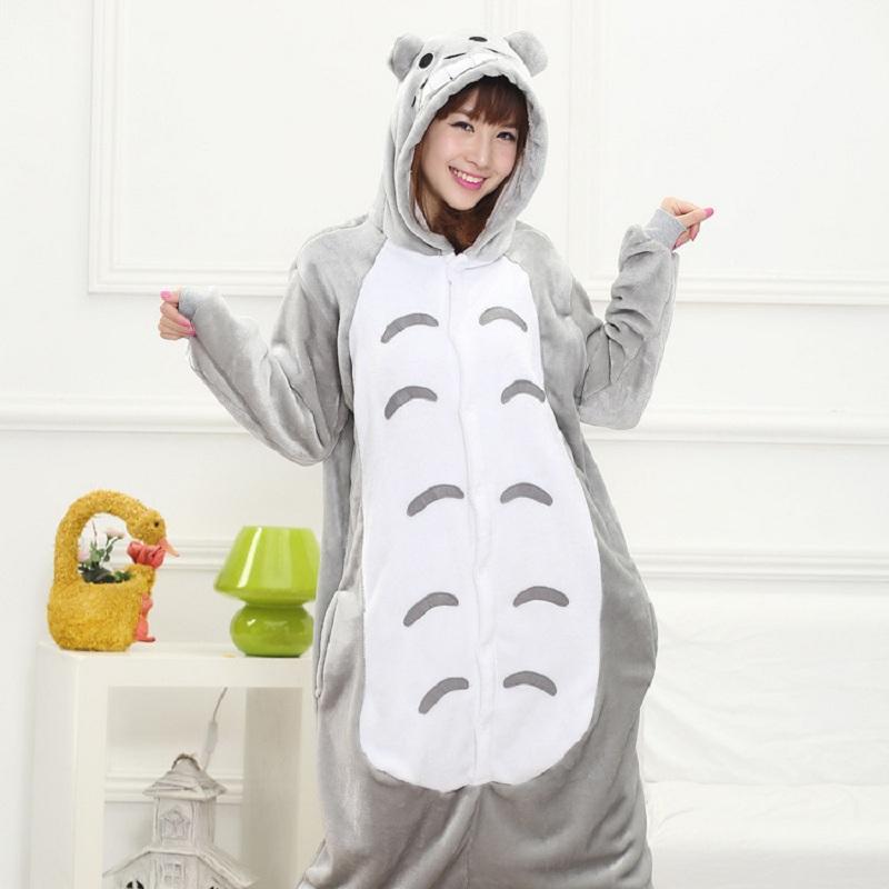 cac437a9fd899 Acheter Ensembles De Pyjamas Au Salon De Repos De Femmes Enceintes Kigurumi  Femmes Arc En Ciel Unicornio Pijama Panda Flanelle Pyjamas Totoro Pyjamas  ...