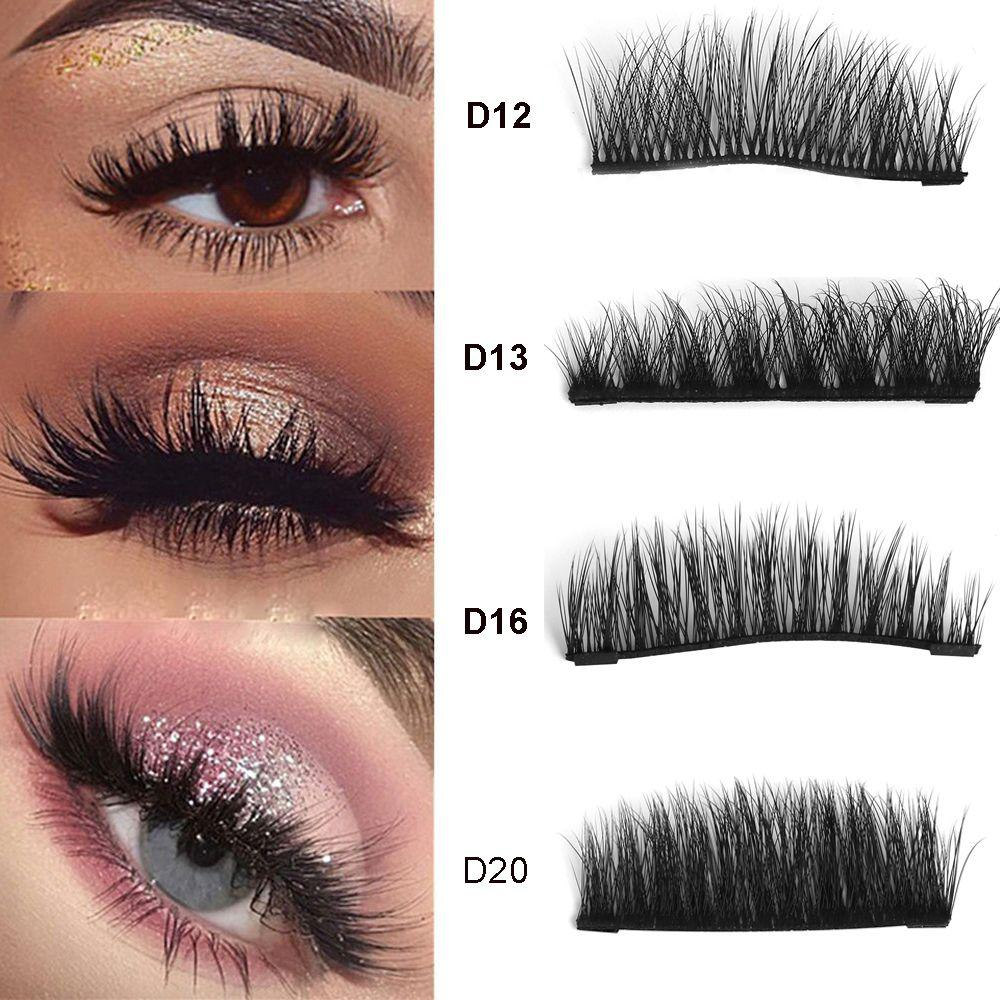 4d7b248a552 Luxury 100% 3D Mink Hair Dual Magnetic False Eyelashes Thick Long Natural  Magnet Eye Lashes Makeup Extension Tools How To Put On False Eyelashes  Permanent ...