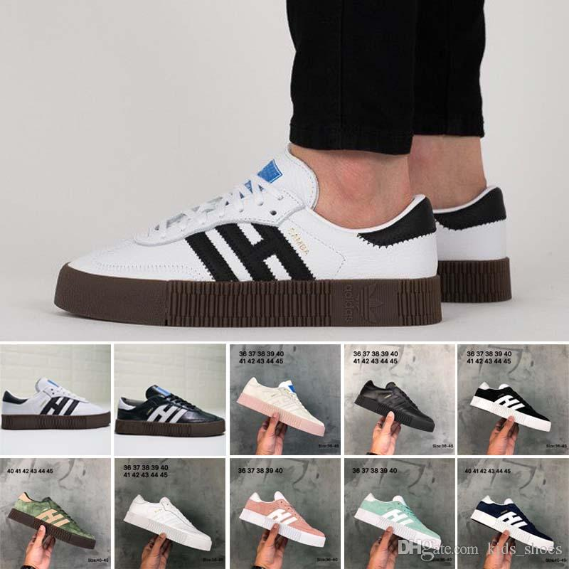 new style 58358 e6bd8 Outdoor Samba Rose Casual Shoes High Quality Men Women Runner White Black  Pink Light Blue Green Red Oreo Beige Student Shoes Eur 36 45 Loafers Mens  Boots ...