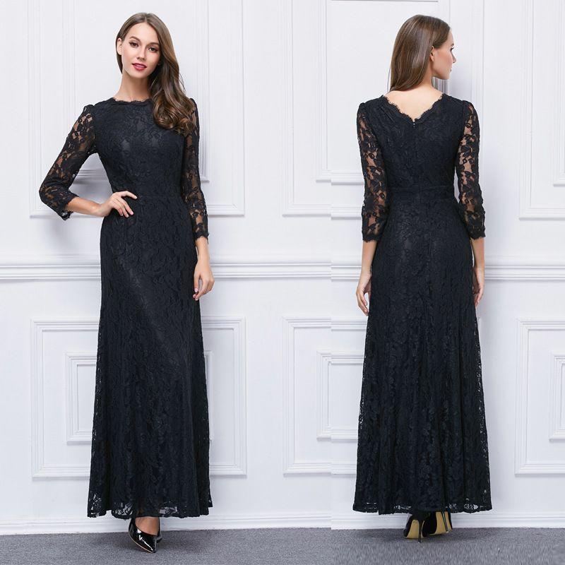 Robe de soiree 2019 dentelle noir