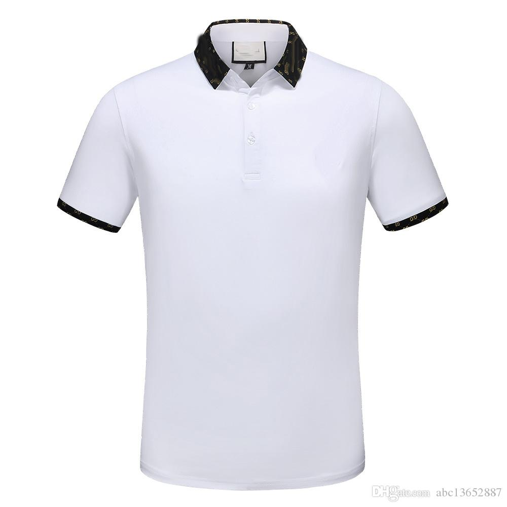 2018 High Quality Summer Italian Fashion Polo Shirt Men S Polo Shirt Casual Polo Top Asian Size M 3xl