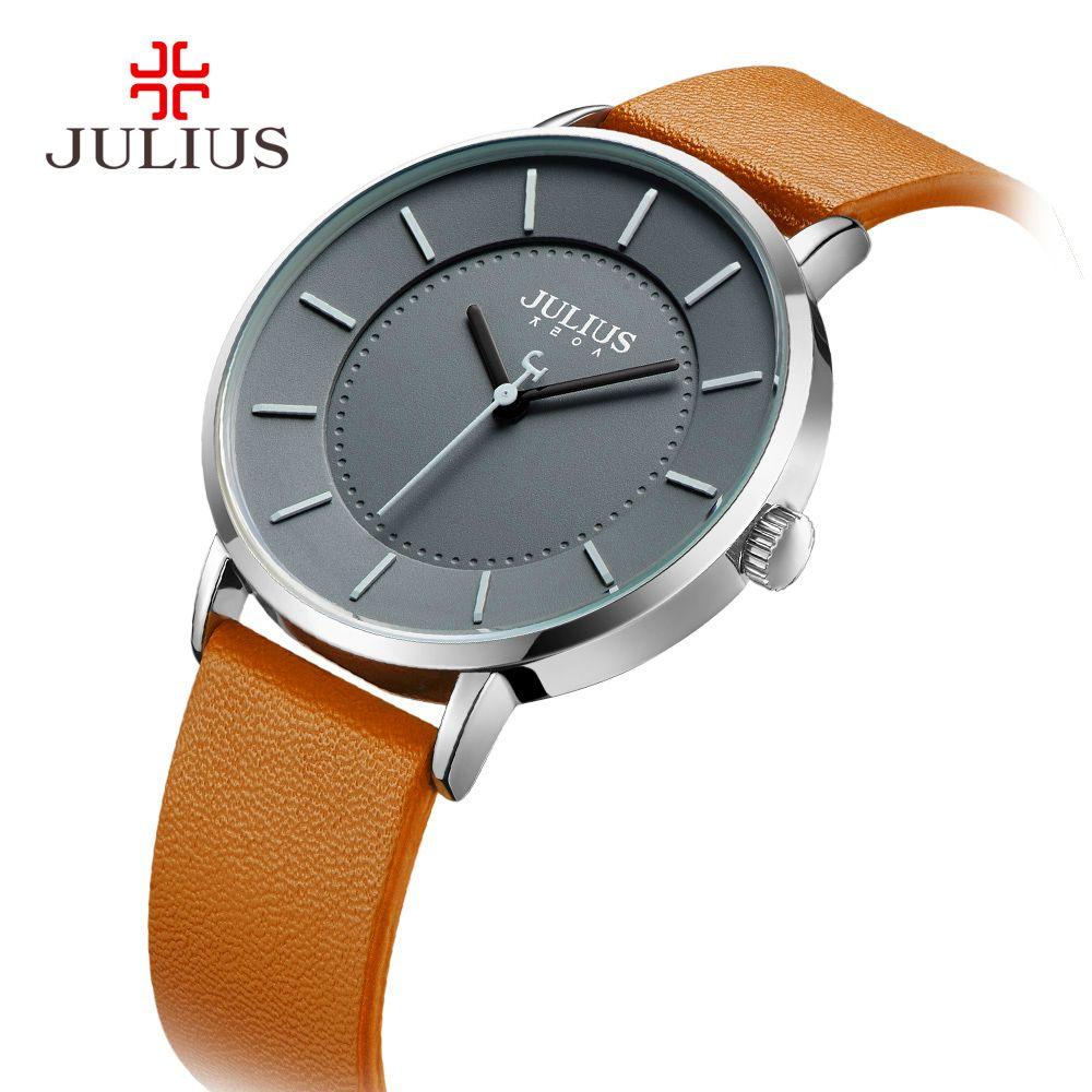 Classic Julius Men S Watch Japan Quartz Hours Fashion Clock Leather